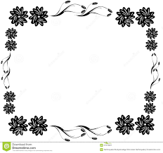 Border Black And White Decorative Black Flower Border Stock Illustration Illustration Of