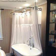 clawfoot tubs shower enclosures tub shower enclosure combo w faucet clawfoot tub shower enclosure ideas