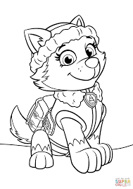 Small Picture Paw Patrol Everest coloring page Free Printable Coloring Pages