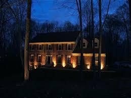 led outdoor lighting ideas. Landscape House Lighting Ideas Low Voltage Led Outdoor Yellow Warm Light Energy Efficient Bulb