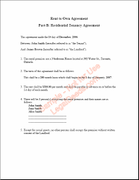 Ontario Tenancy Agreement Template Rent To Own Agreement For Ontario ...