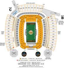Pittsburgh Heinz Field Seating Chart Heinz Field Seating Chart 2017 Heinz Field In Pittsburgh Pa