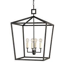 modern traditional wrought iron lantern