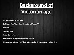 background victorian age
