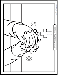 Rosary Coloring Page Printable Coloring Pages