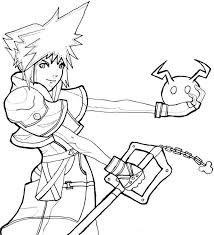 Small Picture Kingdom Hearts Coloring Page Free Printable Kingdom Hearts