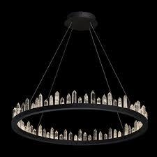 Xxl Design Pendelleuchte Schwarz Kristalle Led