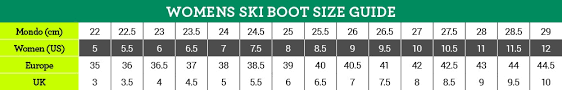 Tecnica Size Chart 40 Reasonable Mondo Sizing Chart For Ski Boots