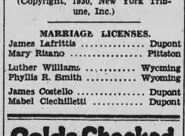 Phyllis (Priscilla Richards) Smith and Luther Williams marriage license.  Octo 6, 1930 - Newspapers.com