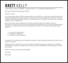 Merchandiser Cover Letter Sample All About Letter Examples