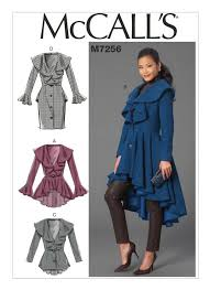 Mc Calls Patterns Custom M48 Misses' Ruffled Coats Sewing Pattern McCall's Patterns