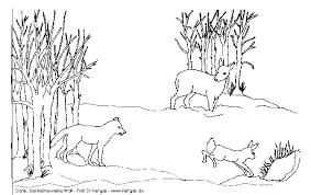 Ausmalbilder tiere im winter basteln gestalten. Malvorlage Wolfsrudel Coloring And Malvorlagan