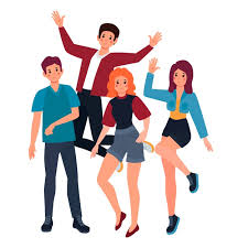 Free Vector | Young people illustration concept