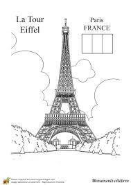 Coloriage D Un Monument C L Bre La Tour Eiffel
