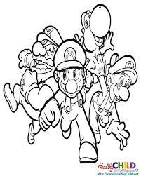 super mario bros coloring pages 4