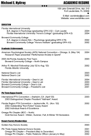 Academic Resume Enchanting Sample Academic Resume Canreklonecco