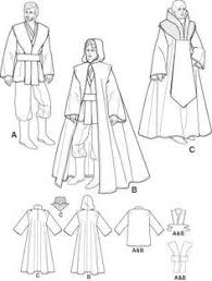 Star Wars Costume Patterns Simple Jedi Robe Pattern And Tutorial Possibly Not Only The Easiest But