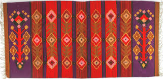 image is loading a geometric red amp purple botanical folk art
