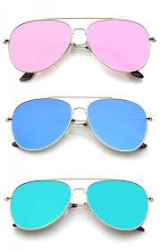 colored mirror lens aviator sunglasses 58mm zoom