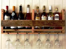 wooden under cabinet wine glass rack