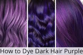 dye dark hair purple without using bleach