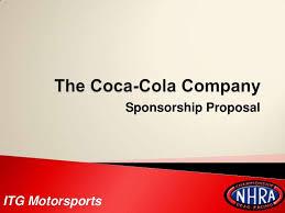 Sponsorship Presentation Template The Coca Cola Company Sponsorship