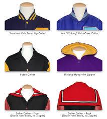 custom designed varsity letterman jacket with set in sleeves varsity letterman jacket collar styles at mount olympus awards