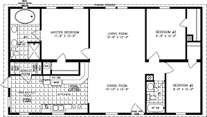 manufactured home floor plan the t n r model tnr 44812b 3 bedrooms