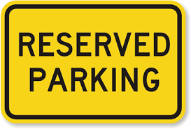 reserved sign templates reserved parking sign bright yellow sku k 4473