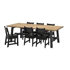 ikea norrÅker skogsta table and 6 chairs