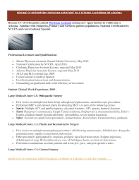 Awesome Collection Of Physician Assistant Resume About Pediatric