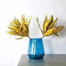 glass vase in bulk blue graham green