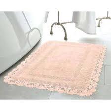 pink bath rug set crochet cotton in x in bath rug in blush hot pink bathroom