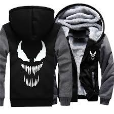Winter zipper Hoody Sweatshirts <b>Venom</b> Hoodies Jacket Pullover ...