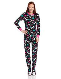 Briefly Stated Onesie Size Chart Amazon Com Briefly Stated Womens Juniors Snoopy Footed