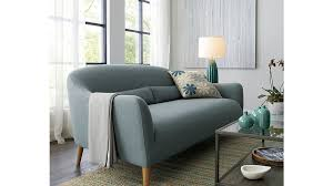 crate and barrel living room ideas. Vintage Living Room Design With Crate Barrel Occasional Loveseat, Pale Blue Upholstered Fabric, And Ideas