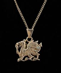 clogau welsh gold dragon pendant on chain