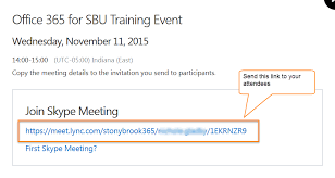 copy and paste the meeting link into an email and send this to your attendees with details about the meeting