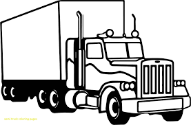 truck coloring pages new popular semi truck coloring pages with peterbilt unique 8850