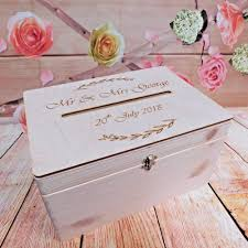 details about lockable wooden wedding guests wish post box with slot for cards envelopes