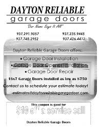 reliable garage doorDayton Reliable Garage DR Service in Dayton OH  57 S Cherrywood