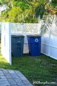 hide garbage cans outdoor privacy fencing designs how to outside outdoor trash can covers garbage outside holder hide