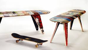 The deckbench - Recycled skateboard bench available in both 60