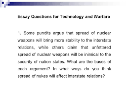 international security and peace ppt video online essay questions for technology and warfare