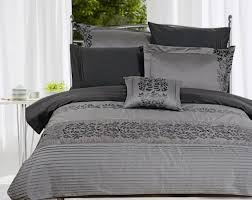 image of gray modern bedding sets for