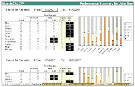 Template Strength Training Log Template Excel Workout Schedule