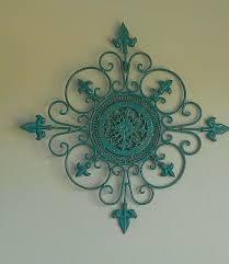 wrought iron scroll wall decor green