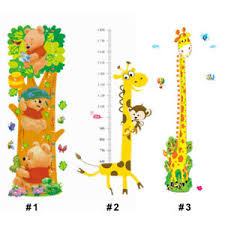 Details About Kids Growth Chart Height Measure Wall Stickers Cartoon Monkeys Birds Flower