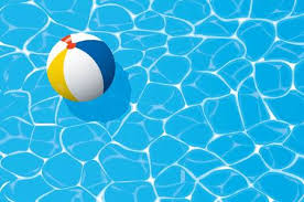 swimming pool beach ball background. Plain Swimming Beach Ball Floating In A Blue Swimming Pool Summer Background Stock  Vector  81137570 Throughout Swimming Pool Beach Ball Background