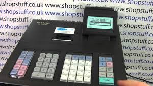 sharp xe a206. sharp xe-a207 cash register instructions: how to clear down the readings - youtube xe a206 o